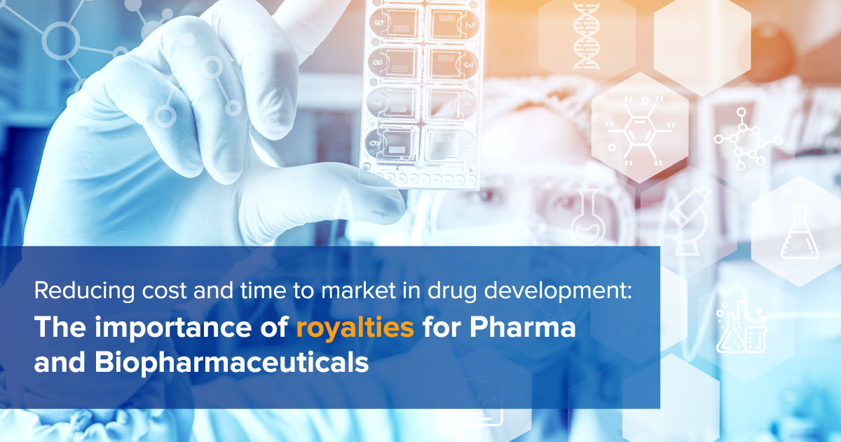 Reducing cost and time to market in drug development: The importance of royalties for Pharma and Biopharmaceuticals