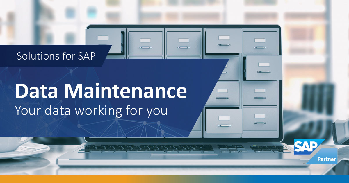 SAP Data Maintenance