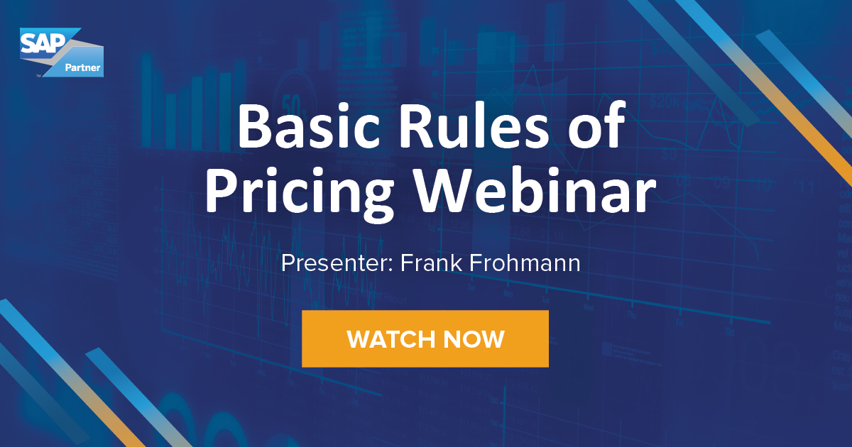 Basic rules of Pricing