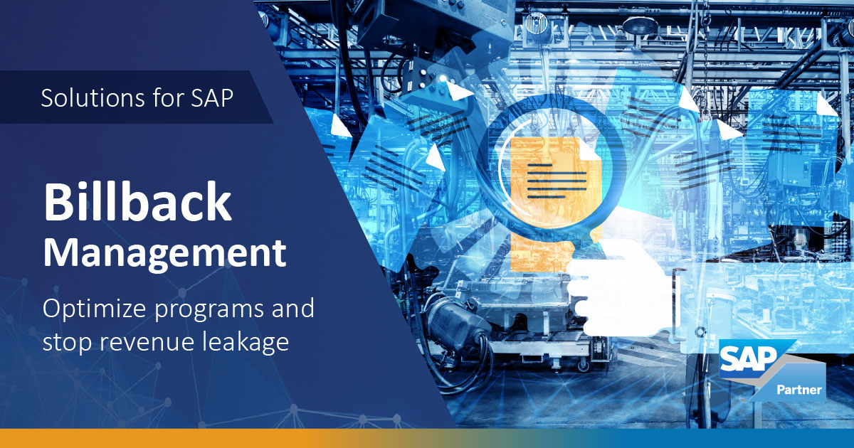 SAP Billbacks Management